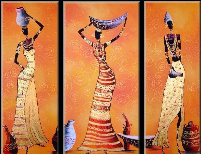 tableau africain femme
