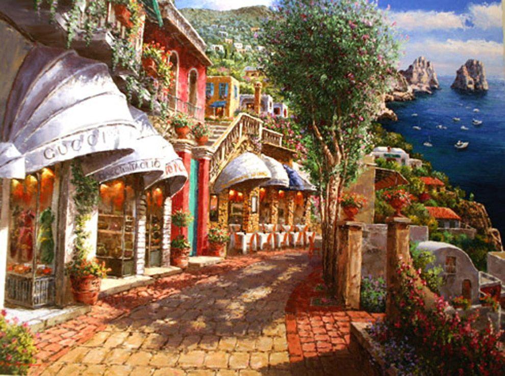 Sung Sam Park韓國藝術家-呈獻歐洲各地小鎮風情《芬芳小鎮》系列 。。。 - milk  - ☆ Milk ☆ 平平。淡淡。也是真。